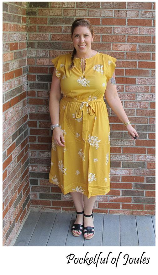 Me in Loft Yellow Dress - Pocketful of Joules