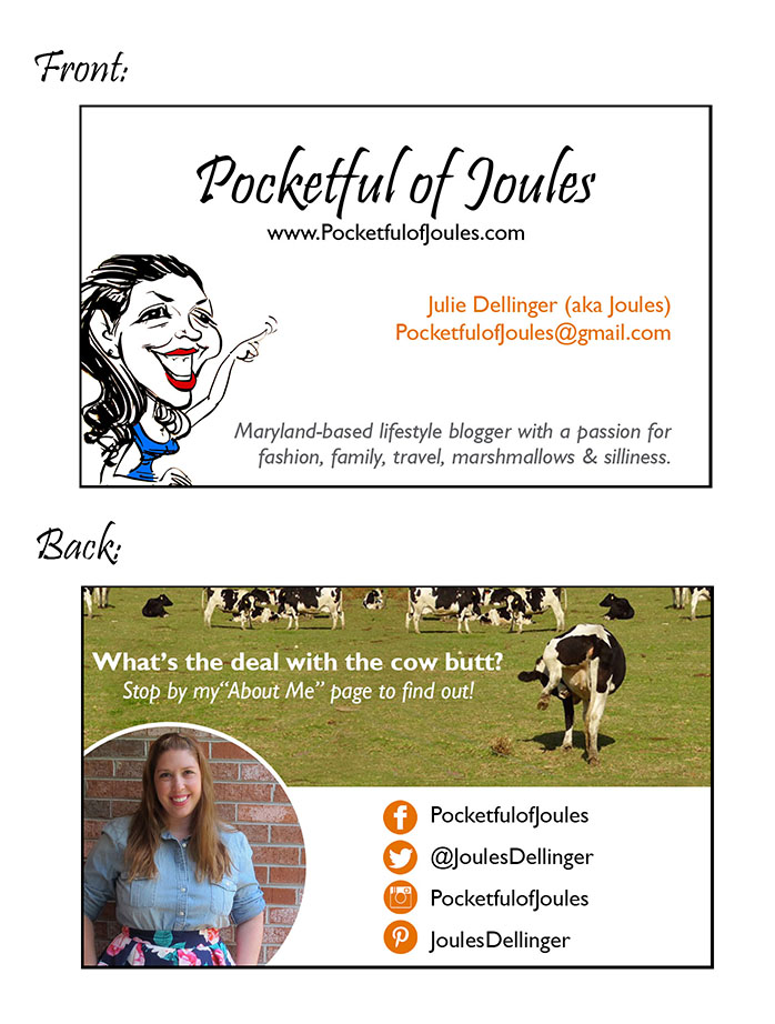 Pockeful of Joules - 2016 Business Cards