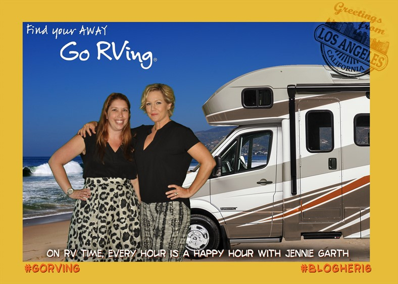 Jennie Garth BlogHer16 Go RVing
