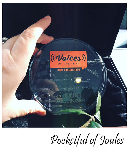 VOTY award - Pocketful of Joules BlogHer16