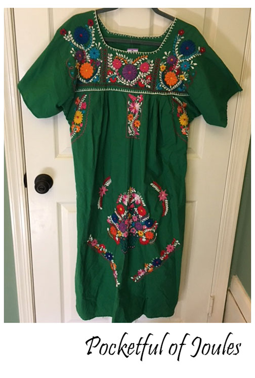 The entire thing is handmade and the flower embroidery is absolutely  stunning. I also love the shade of green. Basically I just grabbed it and  made 'heart ...